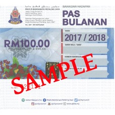 MBPJ Monthly Parking Pass (MBPJ Pas Bulanan)