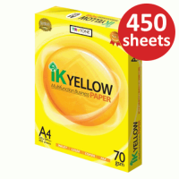 IK Yellow Paper 70gsm - A4 size  (450 sheets)