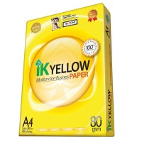 IK Yellow Paper 80gsm - A4 size  (450 sheets)