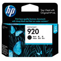 HP 920 Black Officejet Ink Cartridge - CD971AA