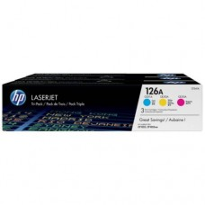 HP CMY Tri-Pack LaserJet Toner Cartridge -  CF341A