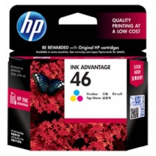 HP 46 Tri-color Ink Cartridge - CZ638AA