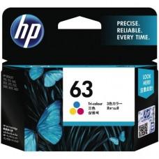 HP 63 Tri-color Ink Cartridge  - F6U61AA