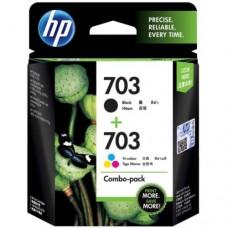 HP 703 Tri-clr/Blk Ink Crtg Combo 2-Pk  - F6V32AA