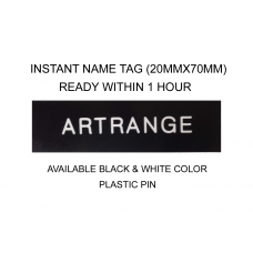 Instant Name Tag 20x70mm