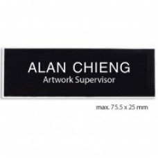 Instant Name Tag 25mmx75mm