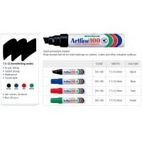 Artline 100 Permanent Markers Black