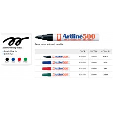 Artline 500A WhiteBoard Marker -Black 2.0mm