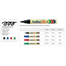 Artline 70 Permanent Markers Black