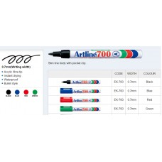 Artline 700 Permanent Markers Black