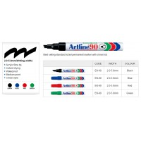 Artline 90 Permanent Markers Black