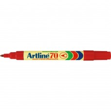 Artline 70 Permanent Markers Red